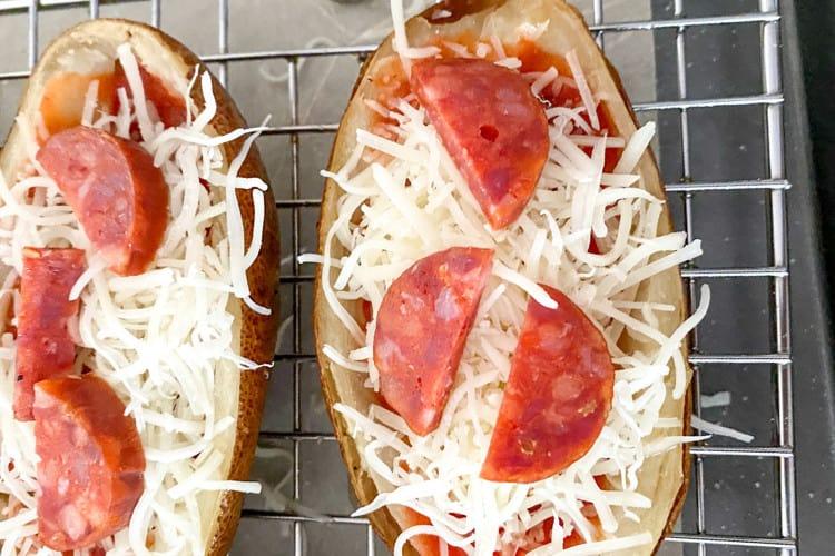 pizza stuffed potato skins